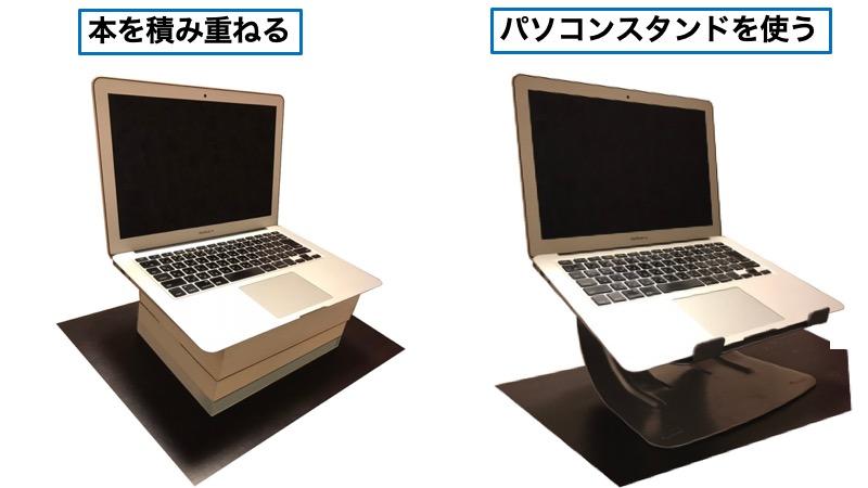 パソコン画面の高さの合わせ方