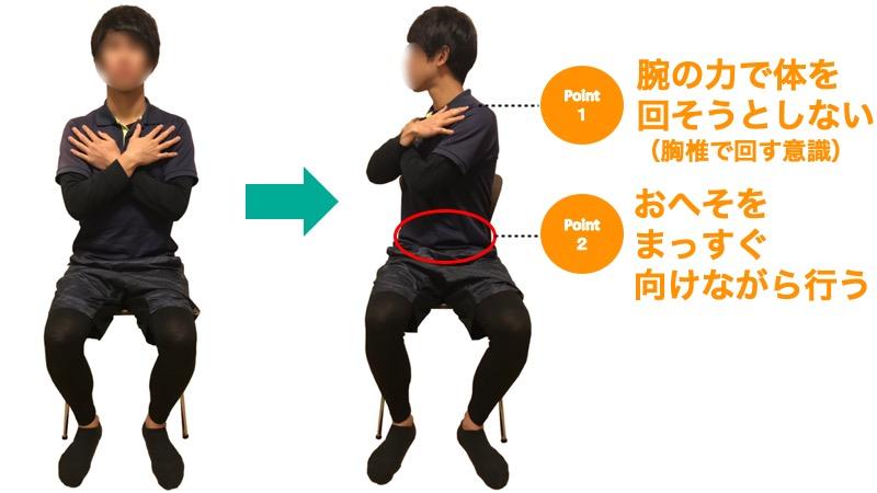 胸椎の回旋運動