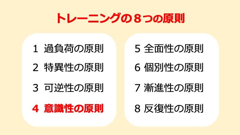 トレーニングの8つの原則