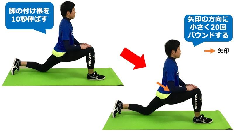 腸腰筋の動的ストレッチ